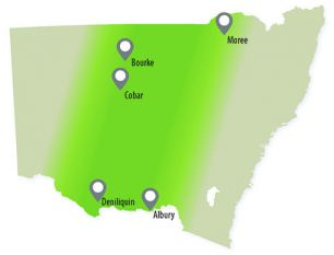 NSW map showing areas where anthrax has been detected