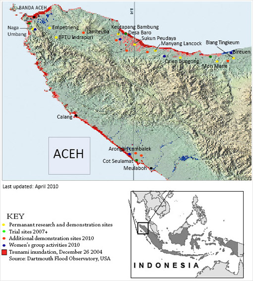Aceh sites map