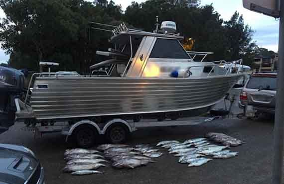 Boat seized by Fisheries Officers at Kissing Point boat ramp, used to illegally take Blue Eye Trevalla, Gemfish and Mirror Dory offshore from Sydney