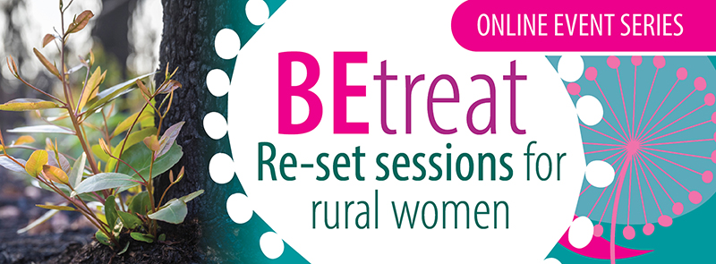 BEtreat re-set sessions for rural women logo