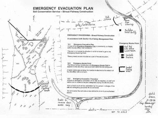 The emergency evacuation plan is essential and forms part of the Safety Management Plan