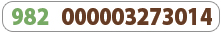 This tag the first three numbers green for the manufacturer code and the remainder are brown for the device code