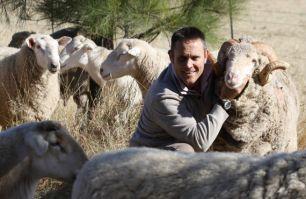 Geoff Casburn with ram