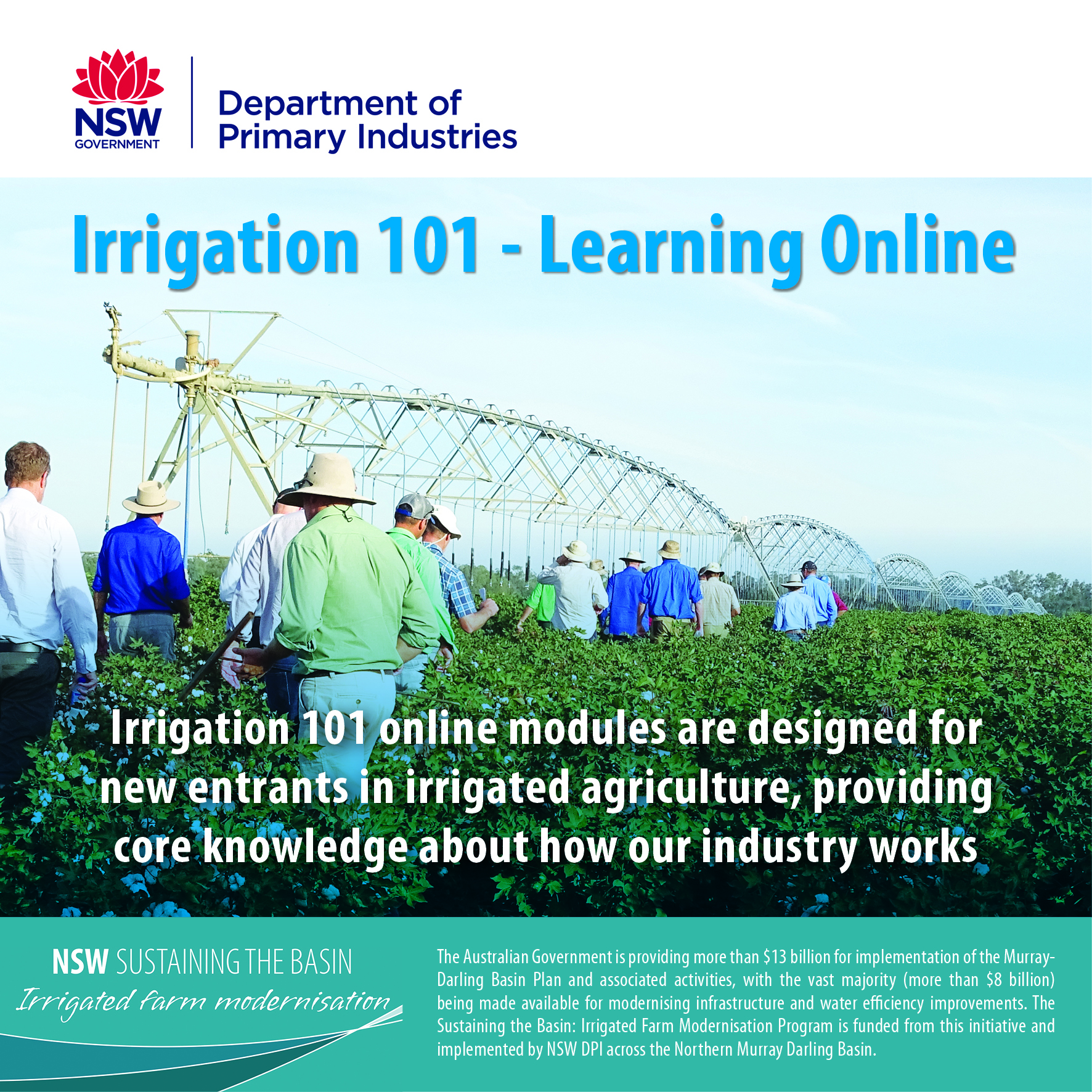 Irrigation 101 Online Learning Modules