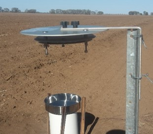 monitoring equipment to collect airborne herbicide
