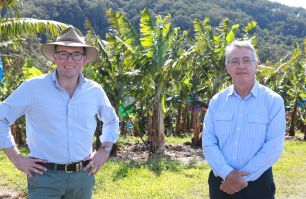 Minister for Agriculture Adam Marshall, left, with Agriculture Commissioner Daryl Quinlivan