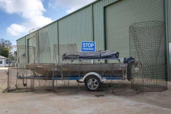Boat, motor, trailer and illegal fish traps seized in North Western NSW