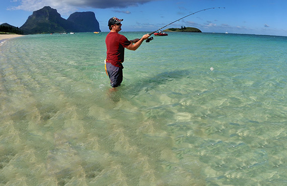 Beach fishing, Lord Howe Island Marine Park, Photo: Justin Gilligan