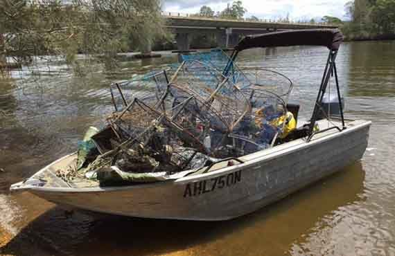 Crab traps seized during Operation Portunus