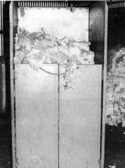 Mobile wool bin (steel)