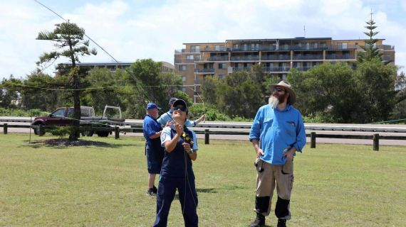 Keen anglers learning to fly fish