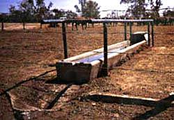 Rectangular water trough