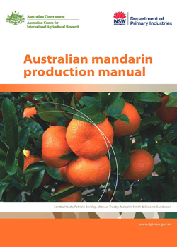 Front cover of the Australian mandarin production manual