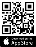 A quick read code that you can scan with your phone that takes you to the Apple AppStore.